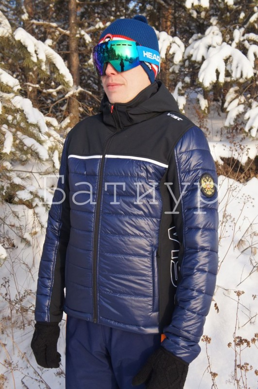 Горнолыжная куртка Vist Dolomitica Plus Softshell Jacket Man RUS D Ocean/Black