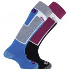 Носки Salomon Elios 2 Pack Methyl blue/Mistic purple 369252