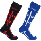Носки Salomon Team jr. 2 pack Blue line/Black 369259